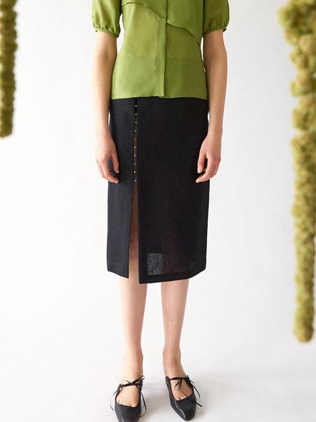 Fadeiin国际品牌品牌2020春夏珠饰束身MIDI裙