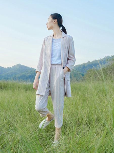 角度女装品牌2020春夏新款条纹大衣 百搭