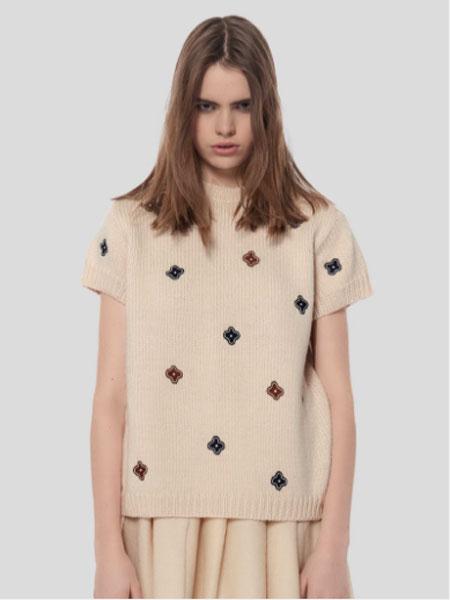 JUPE BY JACKIE国际品牌品牌2020春夏新款简洁星星短袖上衣