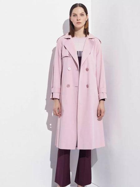 洛瑞琳女装品牌2020春夏新款纯色气质大衣
