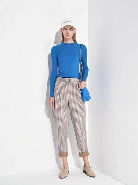 洛瑞琳女装品牌2020春夏新款针织长袖毛衣