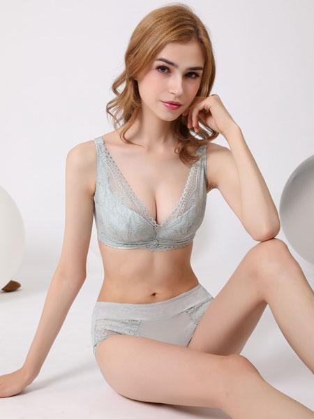 3hree3hree内衣品牌2020春夏新款纯色蕾丝花纹性感内衣