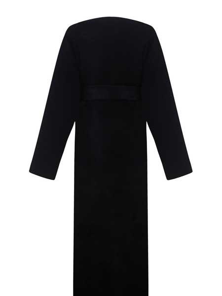 Olenich国际品牌品牌2019秋冬纯色气质性感连衣裙