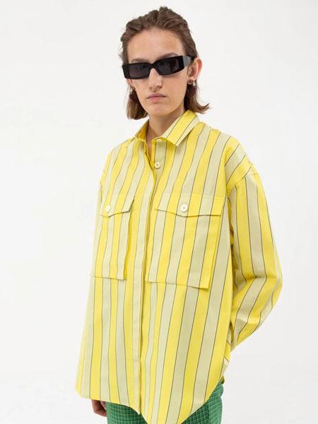 SUNNEI国际品牌品牌2020春夏新款条纹纯色衬衫