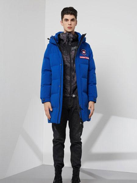 芬尼杰奥男装品牌2020秋冬新款纯色小标羽绒服