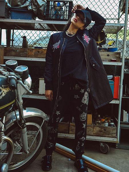 Burando Eno女装品牌2020春夏新款个性印字长裤