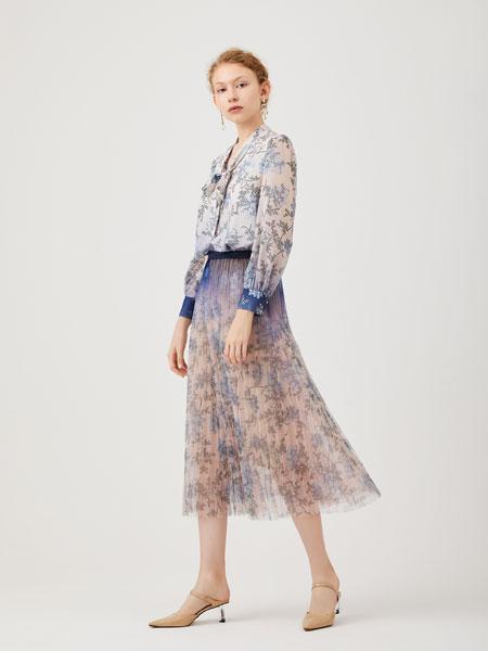 红凯贝尔女装品牌2020春夏新款碎花气质连衣裙