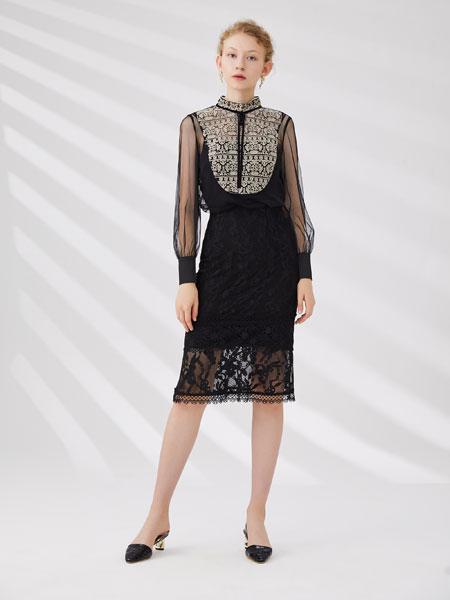 红凯贝尔女装品牌2020春夏新款格子气质连衣裙