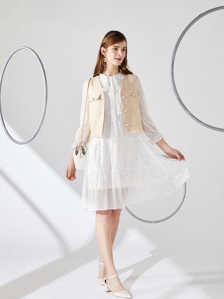 城市衣柜女装品牌2020春夏新款纯色气质纽扣小马甲