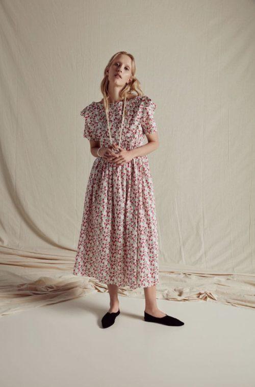 Horror Vacuis国际品牌品牌2020春夏Flabella棉质连衣裙