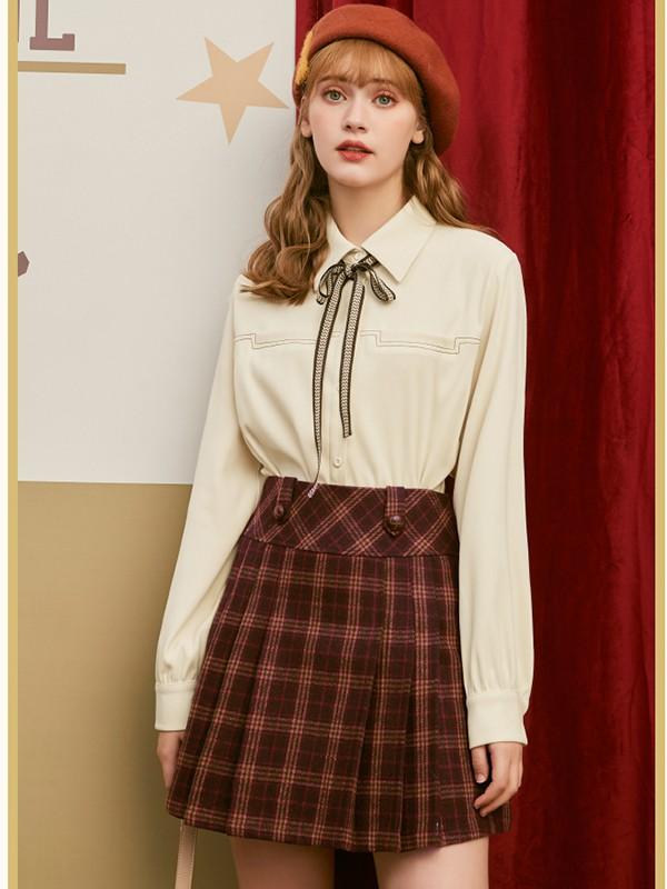 毛菇小象mgxx女装品牌2020春夏新款清新风格裙子套装