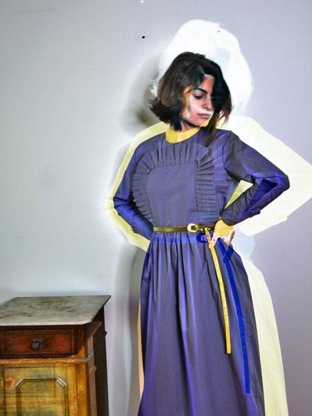 Remesalt国际品牌品牌2020春夏新款丝绸纯色连衣裙