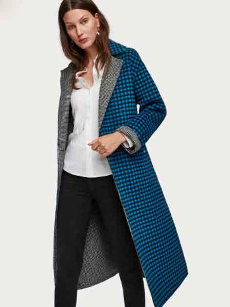 苏格兰苏打国际品牌2020秋冬羊毛混纺大衣