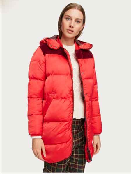 苏格兰苏打国际品牌2020秋冬长款软垫外套
