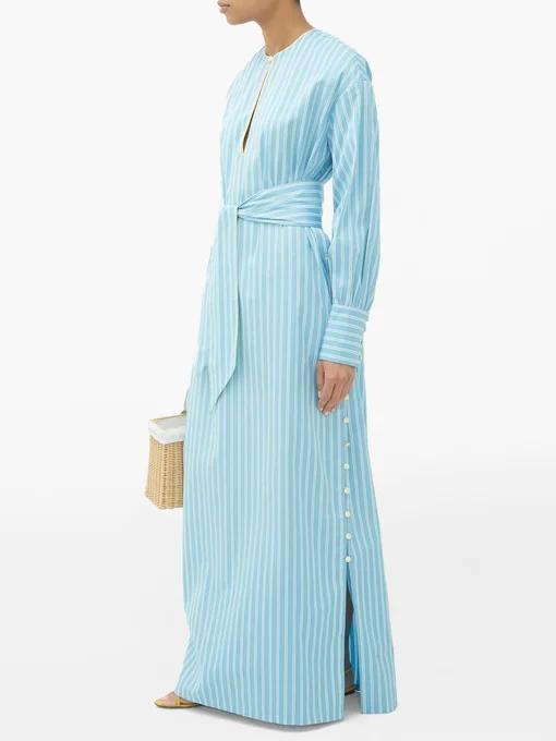 Evi Grintela国际品牌品牌2020春夏新款纯色长款气质连衣裙