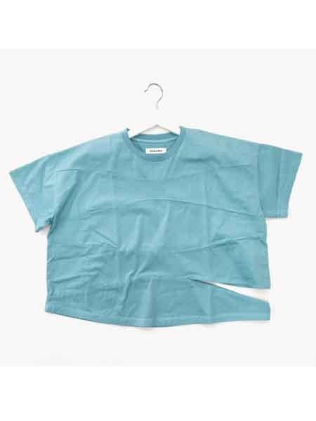 RIDDLEMMA国际品牌品牌2020春夏新款纯色个性裂开T恤