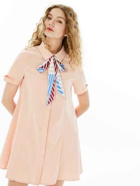 U-Cevel女装品牌2020春夏新款纯色小礼裙