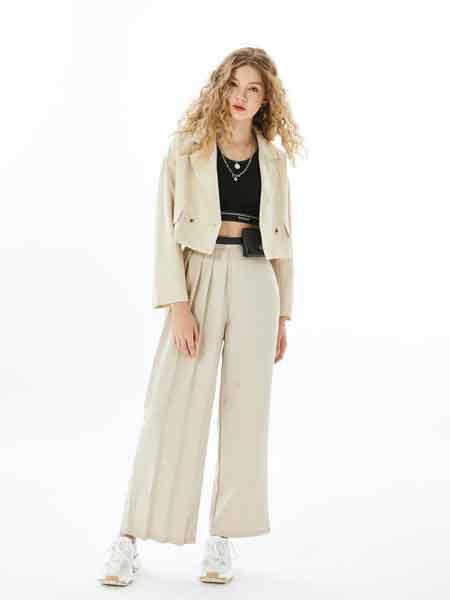 U-Cevel女装品牌2020春夏新款纯色翻领气质夹克