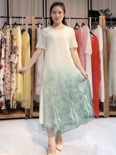 恩妮丝真丝连衣裙2020年夏装新款女装品牌2020春夏新品