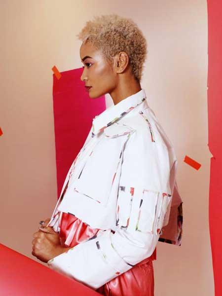 Alex S Yu国际品牌品牌2020春夏新款纯色个性西装外套