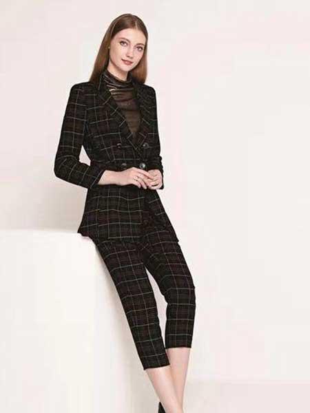 芮色女装品牌2020春夏新款纯色简洁性感西装套装