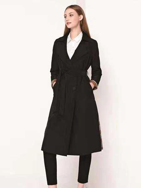 芮色女装品牌2020春夏新款纯色纽扣气质大衣