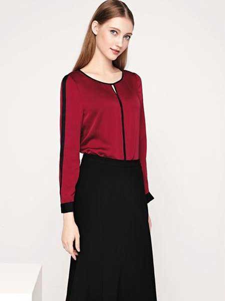 芮色女装品牌2020春夏新款纯色拉链气质内衬衫