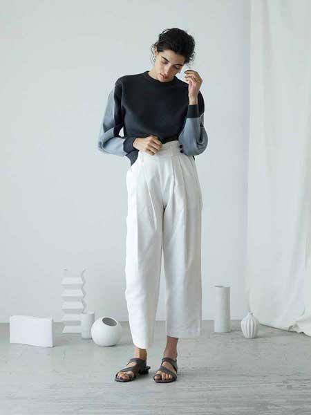 RIM ARK���H品牌品牌2020春夏新款拼接色��性上衣