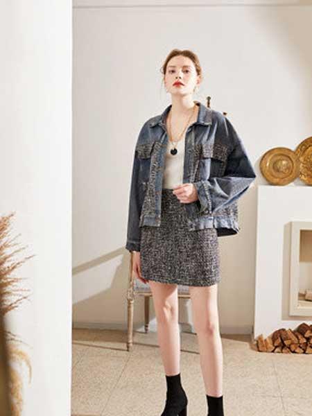QS秸熙、卡蕊.安女装品牌2020春夏新款个性牛仔外套