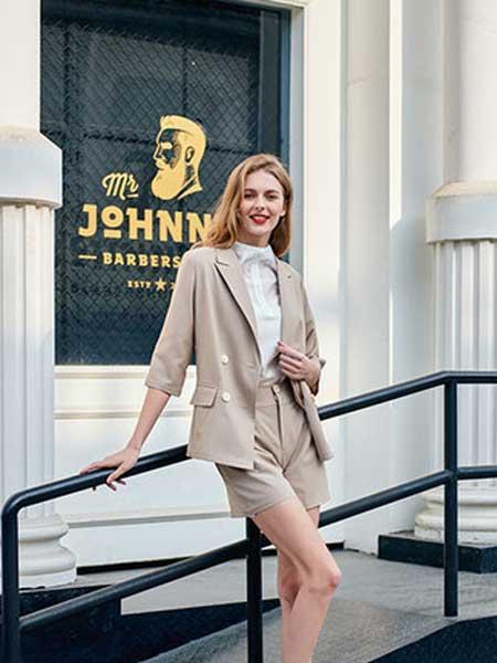 雁腾逸女装品牌2020春夏新款纯色气质西装套装