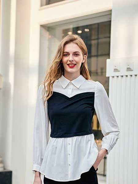 雁腾逸女装品牌2020春夏新款纯色气质真丝上衣