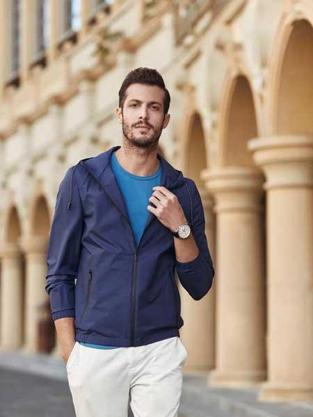 希努尔男装品牌2020春夏新款纯色男士运动外套