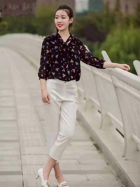 舍念女装品牌2020春夏新款纯色波点真丝翻领内衬衫