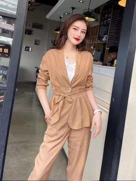 索诗妃儿SUOSHIFEIER女装品牌2020春夏新款纯色系带气质外套