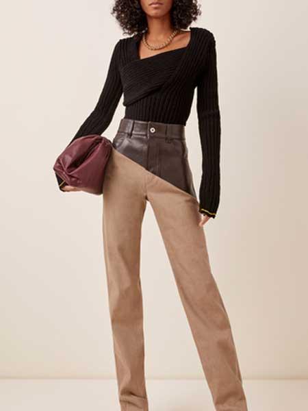 St Agni国际品牌品牌2020春夏方领弹力棉上衣