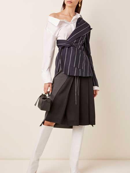 St Agni国际品牌品牌2020春夏细条纹棉上衣