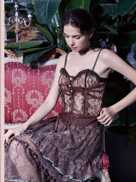 SUMPHER西玛菲迩女装品牌2020春夏新款印花性感吊带连衣裙