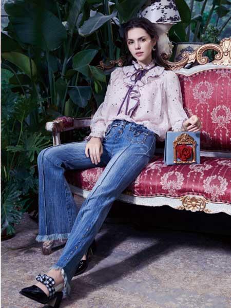 SUMPHER西玛菲迩女装品牌2020春夏新款波点蝴蝶结长袖衬衫