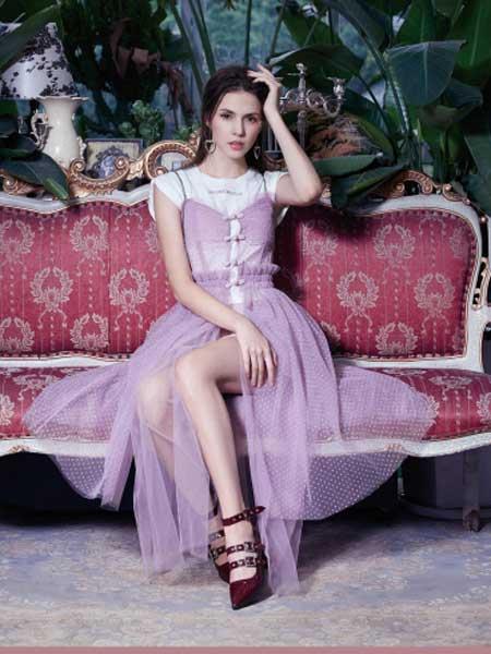 SUMPHER西玛菲迩女装品牌2020春夏新款纯色无袖透纱性感连衣裙