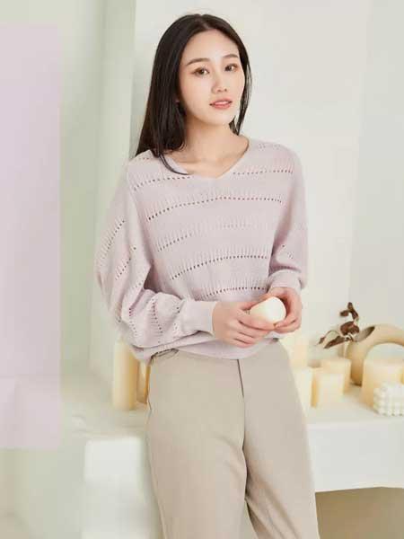哈祥喜女装品牌2020春夏新款纯色针织简洁上衣