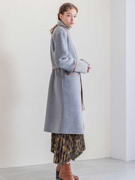 SALT+JAPAN���H品牌品牌2020春夏新款�色毛呢�~扣大衣
