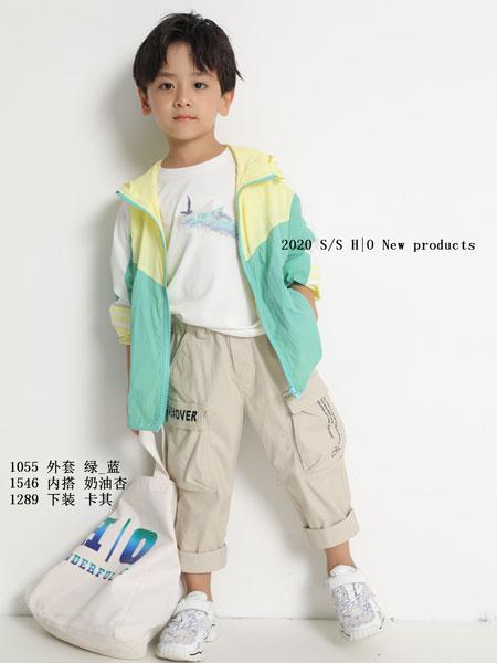 H|O逅童装品牌2020春夏新款男童拼接色拉链外套
