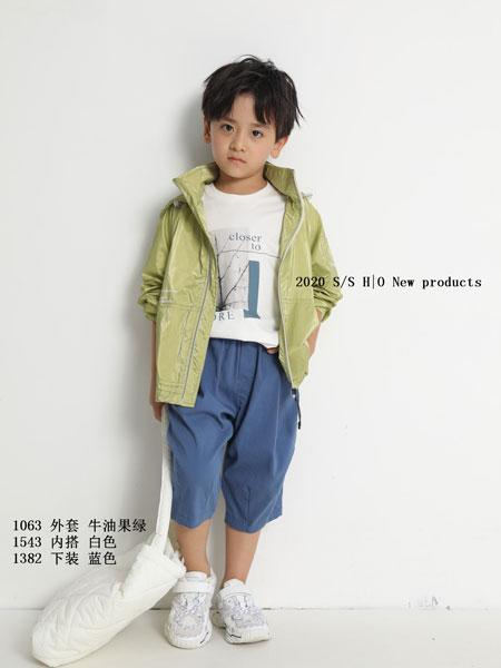 H|O逅童装品牌2020春夏新款纯色立领气质夹克