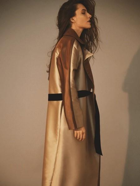 Marina Qureshi国际品牌2020春夏时尚长款大衣