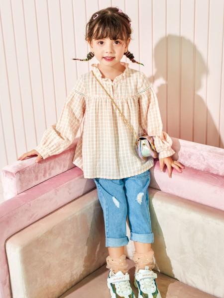 卡儿菲特山西童装品牌2020春夏纯棉衬衣
