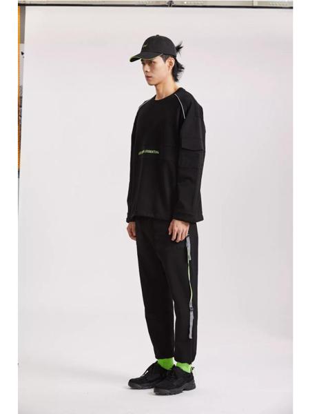 J.P.E男装品牌2020春夏加绒圆领卫衣