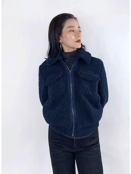 筱陌女装品牌2020秋冬时尚羊羔毛外套