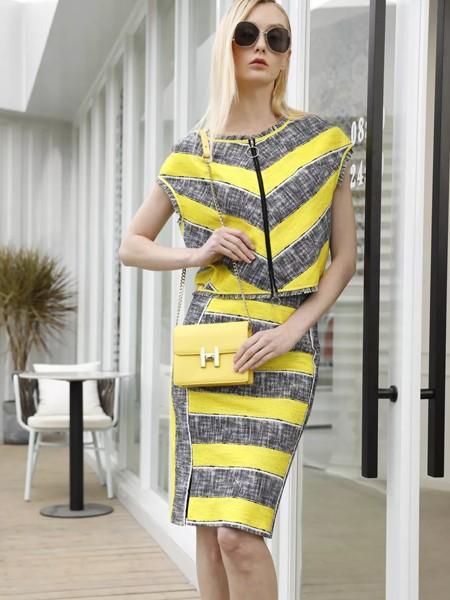T'ameril(天美瑞尔)女装品牌2020春夏条纹套装