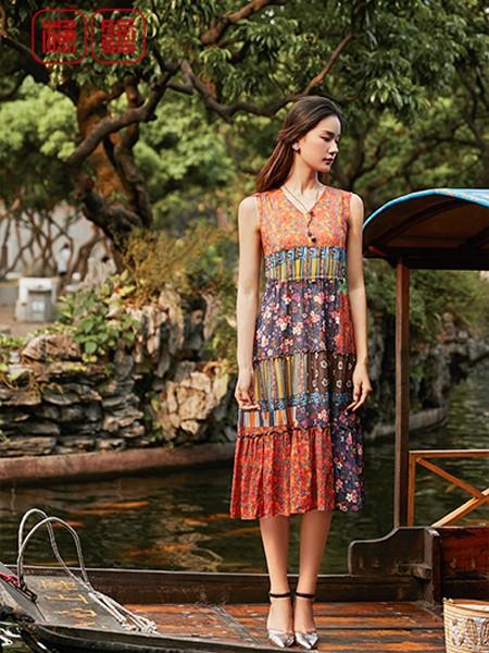 渔女装品牌2020春夏知性气质连衣裙