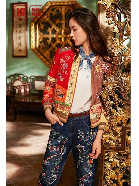 渔女装品牌2020春夏复古外套